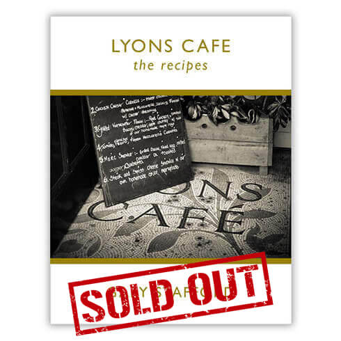 Lyons Cafe Recipe Book Is Sold Out